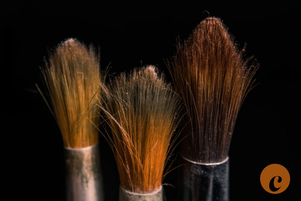 shaving cream brushes in different sizes